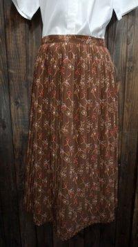 花柄 ブラウン レトロスカート /w67cm [41861]