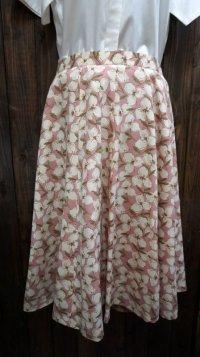 花柄 ピンク レトロスカート /w68cm [41864]