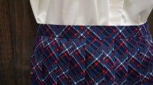 他の写真1: チェック柄 ブルー レトロスカート /w66cm [41854]