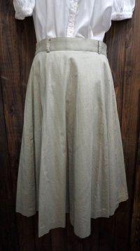 無地 グリーン系 レトロスカート /w66cm[41882]