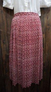 花柄 赤系 スカート/w61cm[41906]