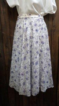 花柄  パープル系 スカート /w62cm[41914]