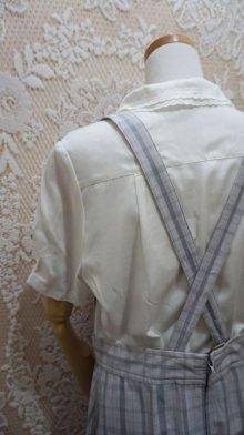 他の写真1: チェック柄 グレー系 ジャンパースカート[52867]