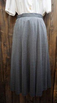ボーダー柄 グレー系  コットン スカート /w64cm[41930]