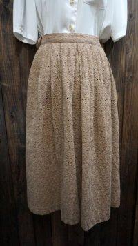 無地 ブラウン コットン スカート /w60cm[41939]