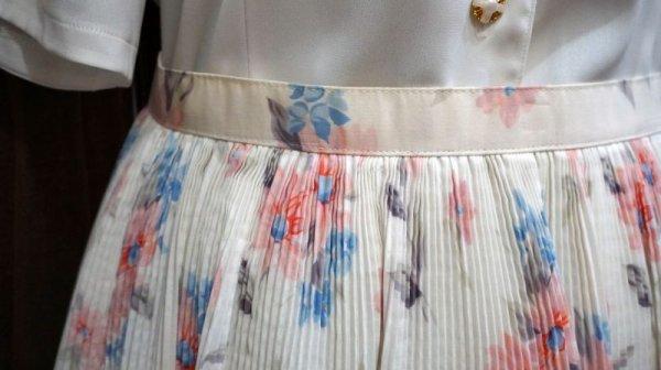画像3: 花柄 ピンク コットン スカート /w58cm[41933]