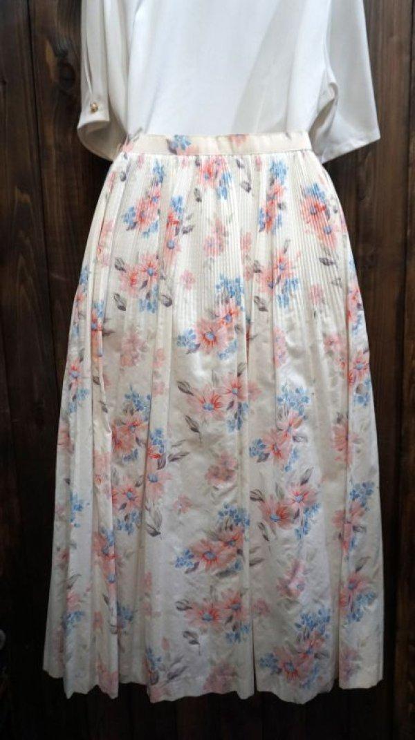 画像2: 花柄 ピンク コットン スカート /w58cm[41933]