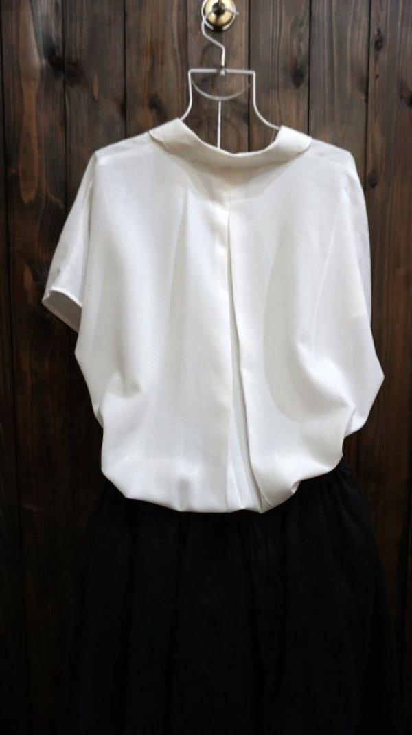 画像2: 白 半袖 ブラウス リボン レースカラー[11657]