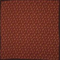 シルク 花柄 スカーフ 90cm×90cm[0336]