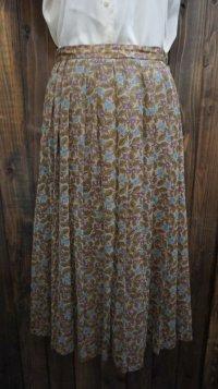 花柄  ブラウン系 スカート/w62cm [41970]