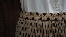 他の写真1: ドット柄 ブラウンスカート/ w60cm~(ゴム)[45275]
