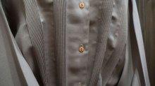 他の写真1: ブラウン 長袖 ブラウス レギュラーカラー[16058]