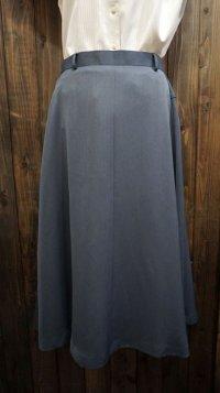 無地 ブルー系 スカート /w66cm[42001]
