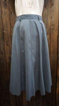 無地 ブルー スカート / w68cm[41991]