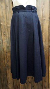 無地 黒 スカート プリーツ/w62cm[42021]