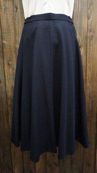 無地 黒 スカート フレア/w66cm[42020]