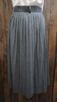 無地 グレー スカート プリーツ/w66cm[42024]
