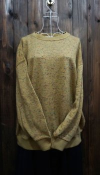 黄色 ニット セーター クルーネック[25466]