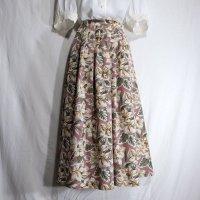 花柄 ピンク スカート フレア/w62cm[42081]