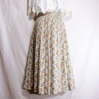 花柄 水色 スカート フレア/w67cm[42089]