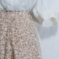 花柄 ピンク系 スカート フレア/w58cm[42107]