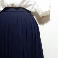 無地 ネイビー スカート プリーツ/w60cm[42119]