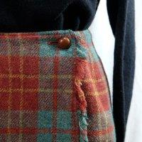 チェック柄 赤×緑 スカート タイト 巻スカート/w60cm[42259]