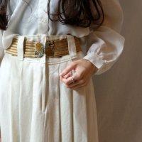 無地 ホワイト系 スカート フレア /w71cm[42268]