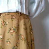 花柄 ブラウン系 スカート フレア/w60cm[42295]