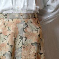 花柄 ピンク系 スカート フレア/w61cm[42305]