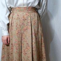 花柄 ブラウン系 スカート フレア/w60cm[42297]