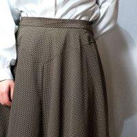 ドット柄 緑 スカート フレア/w70cm[42290]