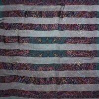 シルク スカーフ エスニック柄 105cm×105cm[0478]