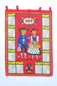 1977年 布カレンダー タペストリー チロル 41cm×57cm[11521]